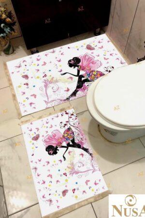 Dijital 60x100 2li Banyo Paspas Seti