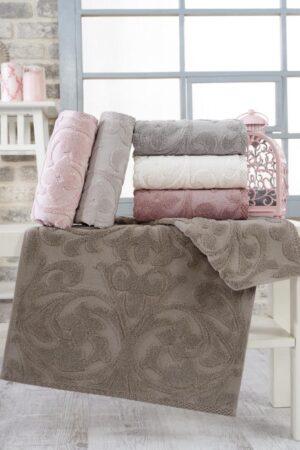 Perforce Jakarlı Cotton 70x140 6 lı Banyo Havlusu Seti