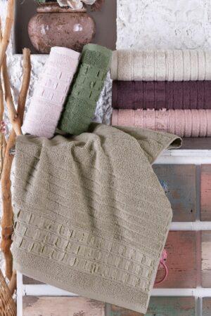 Elegan Cotton 70x140 6 lı Banyo Havlusu Seti