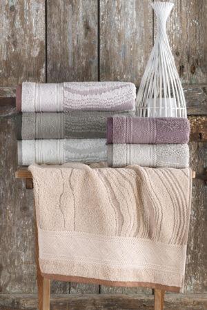 Cotton LAMİNANT 70x140 6 lı Banyo Havlusu Seti