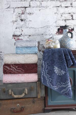 Cotton Kadife QUEEN  70x140 6 lı Banyo Havlusu Seti